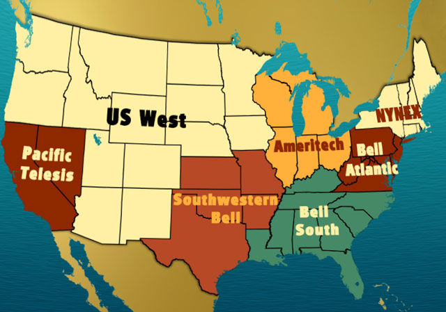 Baby Bell Companies by Region